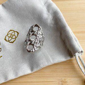 Kendra Scott Natalie Ring Silver Size M/L
